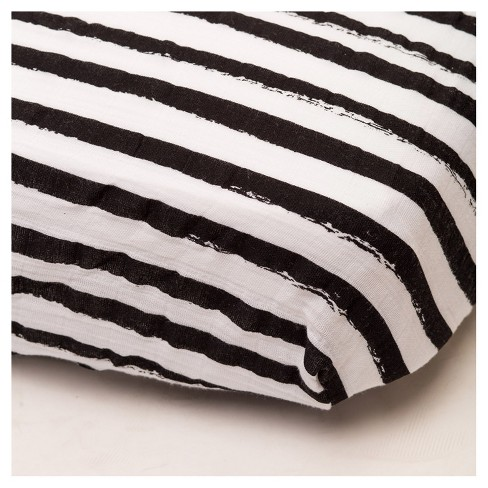 Little Unicorn Fitted Crib Sheet - Ink Stripe - image 1 of 4