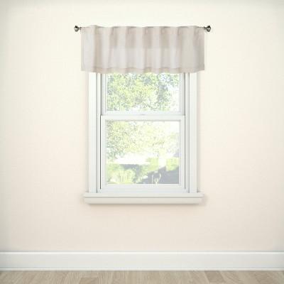 """15""""x54"""" Window Valance Beige - Threshold™"""