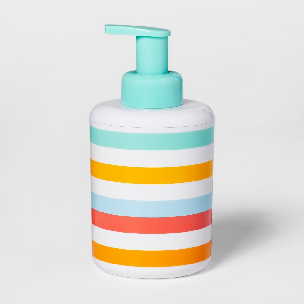 Image of Warm Striped Foaming Soap Dispenser - Pillowfort