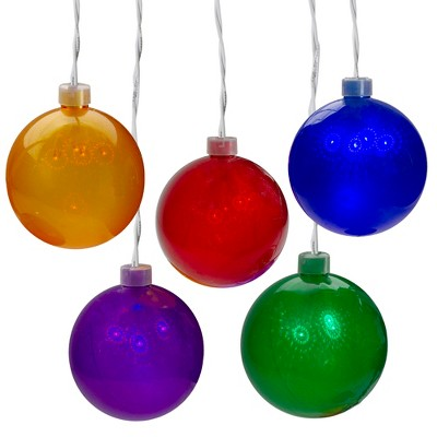 J. Hofert Co 5 Count Multi-Color LED Globe Icicle Christmas Light Set