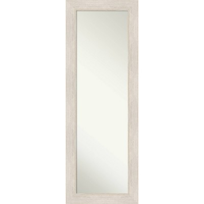 "19"" x 53"" Hardwood Framed Full Length on the Door Mirror - Amanti Art"