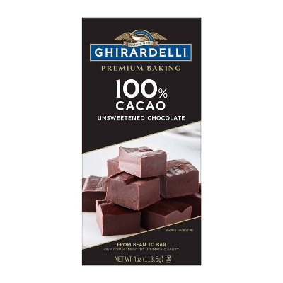 Ghirardelli Unsweetened 100% Cacao Chocolate Baking Bar - 4oz