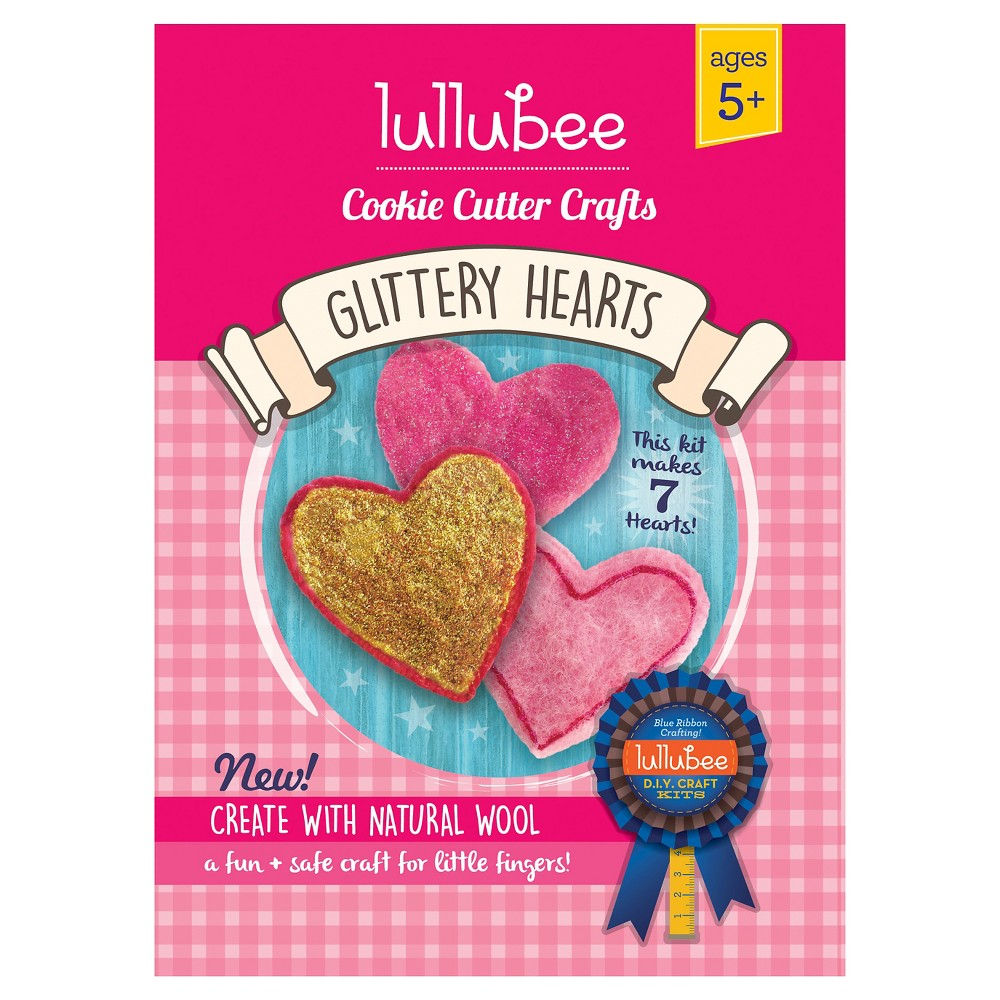 Lullubee Cookie Cutter Wool Craft Set Heart, Multi-Colored