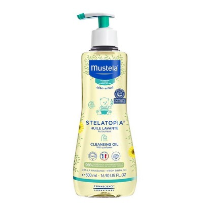 Mustela Stelatopia Cleansing Baby Oil for Eczema Prone Skin - 16.9 fl oz
