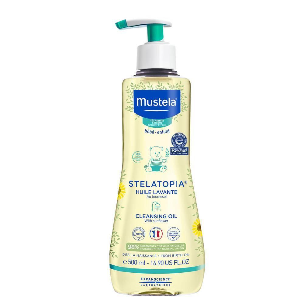 Mustela Stelatopia Cleansing Baby Oil For Eczema Prone Skin 16 9 Fl Oz