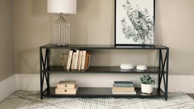 "Frame Metal And Wood Console Table 60"" - Saracina Home : Target"