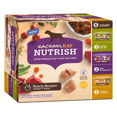 Rachael Ray Nutrish Super Premium Wet Dog Food Hearty Recipes Chicken & Beef - 8oz/6ct Variety Pack