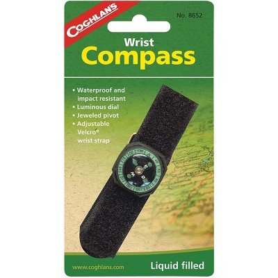Coghlan's Wrist Compass w/ Strap, Waterproof & Impact Resistant Survival Camping