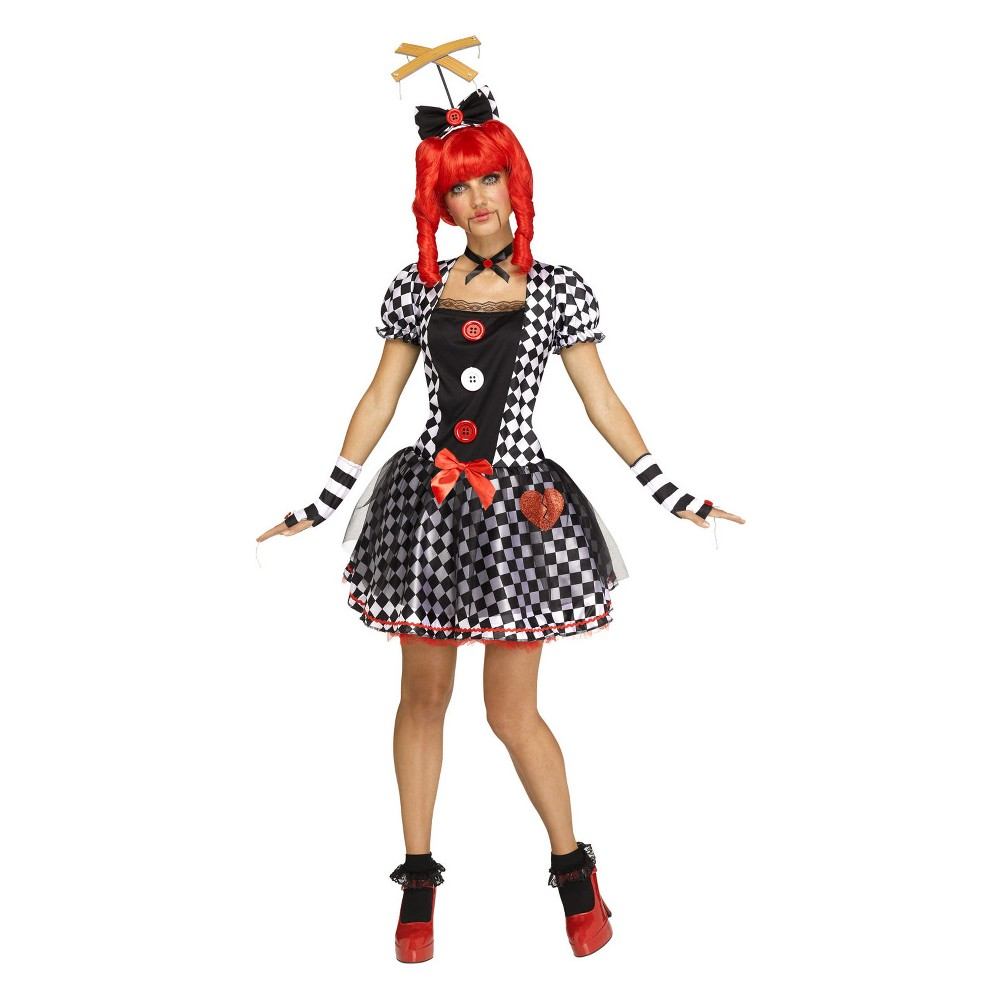 Women's Marionette Doll Halloween Costume L, Multicolored