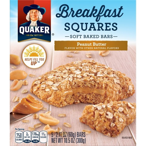 Quaker Breakfast Squares Peanut Butter - 5ct 10.5oz - image 1 of 7