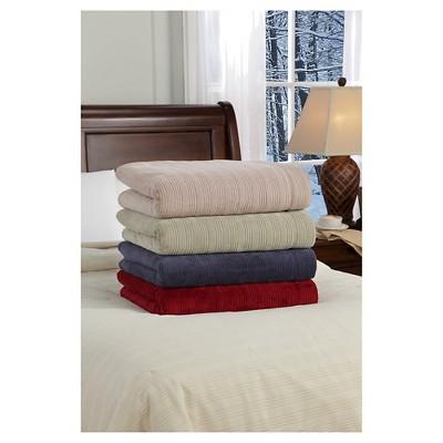 Plush Triple Rib Warming Blanket (Queen)Beige - SoftHeat™