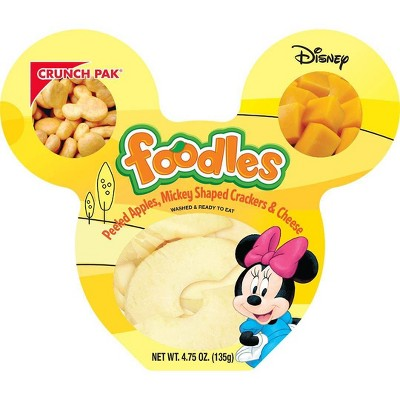 Crunch Pak Disney Foodles Peeled Apples, Cheese & Crackers - 4.75oz