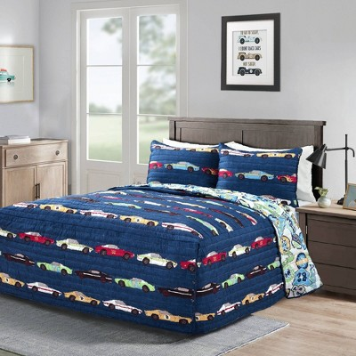 Race Car Bedspread Bedding Set - Lush Décor