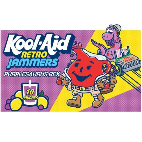Kool-Aid Jammers Retro Purplesaurus Rex Juice Drink - 10pk/6 fl oz Pouches - image 1 of 4