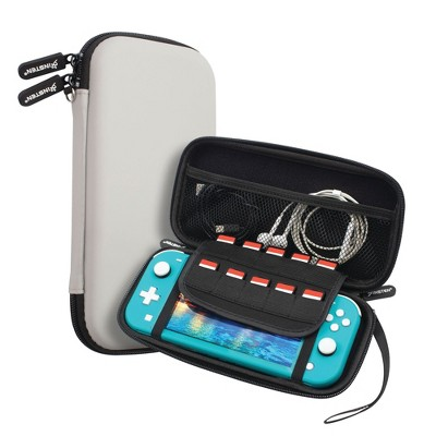 Insten Carry Case for Nintendo Switch Lite - Portable Hard Shell Travel Pouch for Console & Accessories, Gray