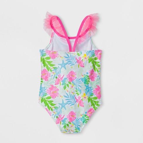 bec300b08f Toddler Girls' Disney Little Mermaid One Piece Swimsuit - Pink : Target