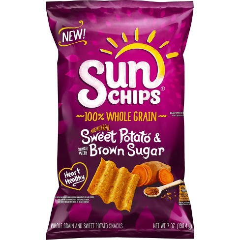 SunChips 100% Whole Grain Sweet Potato with Brown Sugar Chips - 7oz - image 1 of 2