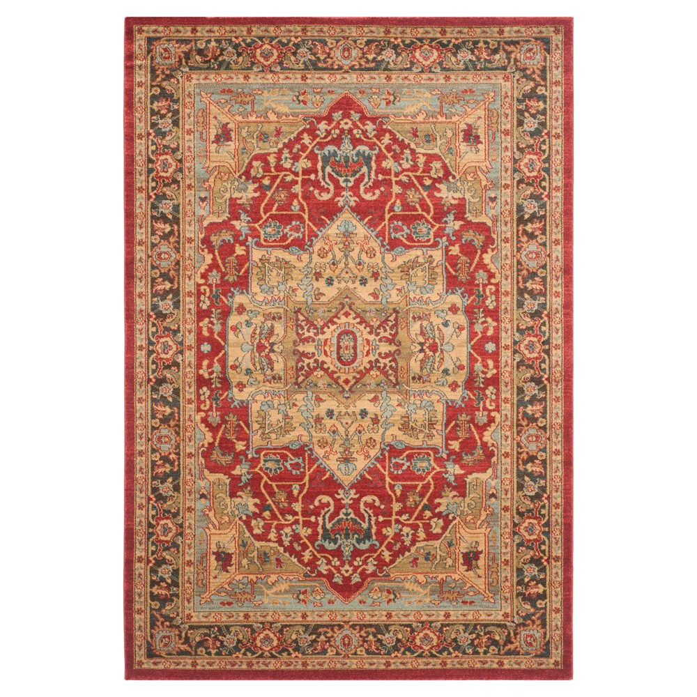 Hawly Area Rug - Natural/Red (5'1