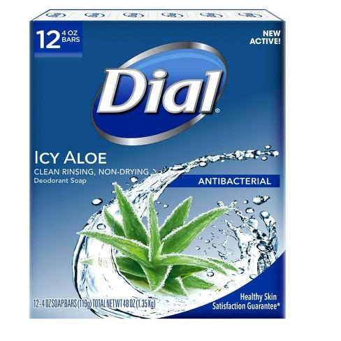 Dial Antibacterial Deodorant Icy Aloe Bar Soap - 4oz/12pk - image 1 of 4