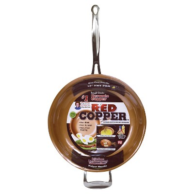 "As Seen on TV 12"" Frying Pan Red Copper"