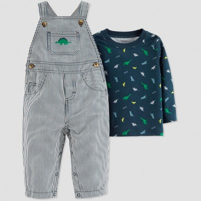 Baby Boys' 2pc Dino Overall Set - Just One You® made by carter's Navy Newborn