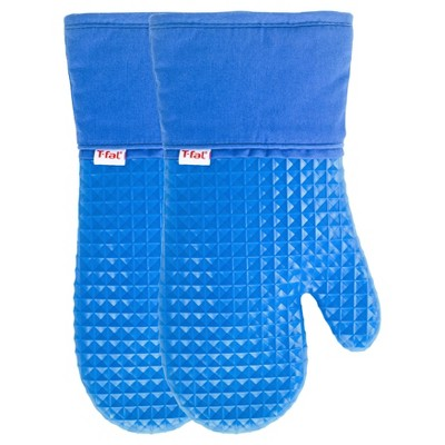 2pk Blue Waffle Silicone Oven Mitt - T-Fal