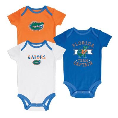 Florida Gators Newest Fan 3pk Bodysuit Set 3-6 M