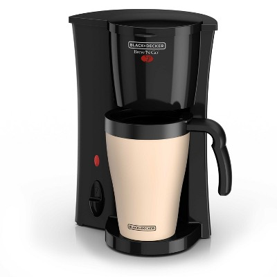 BLACK+DECKER Personal Coffee Maker with Travel Mug - Black DCM18