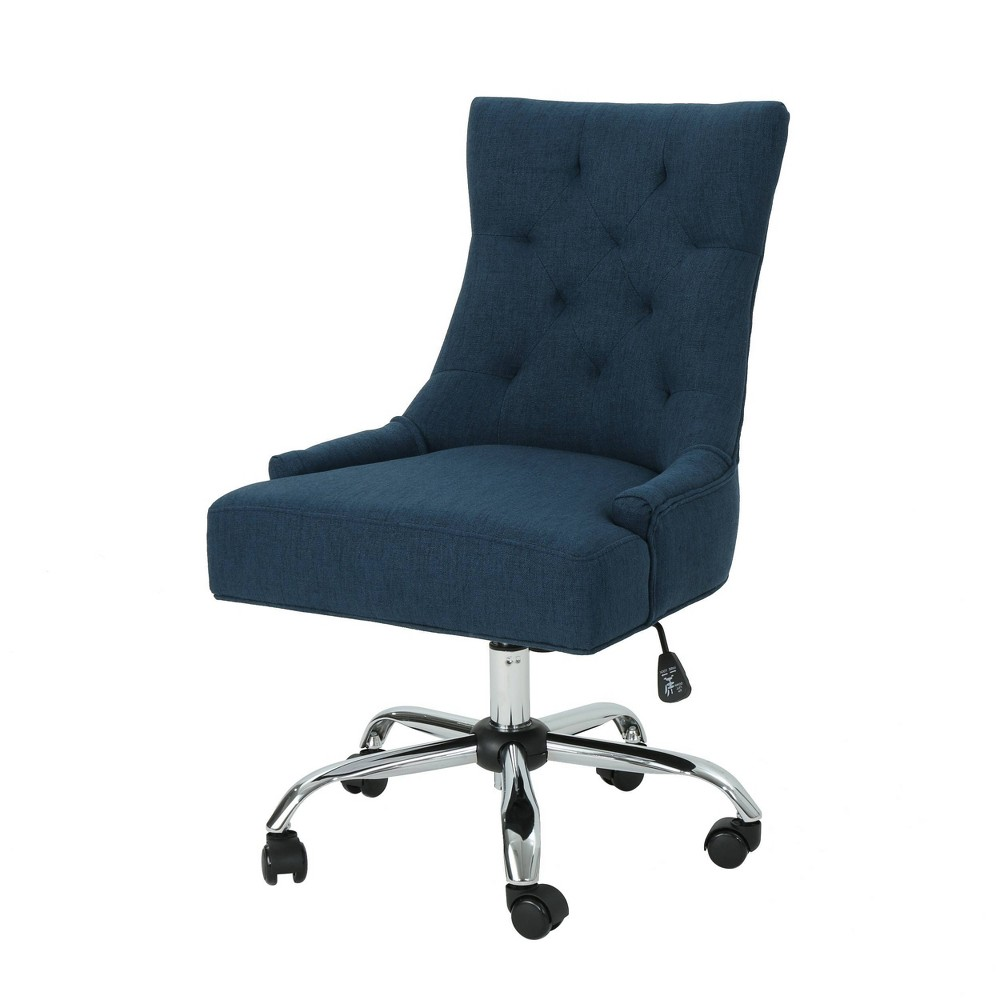 Americo Home Office Desk Chair Navy Blue Christopher Knight Home