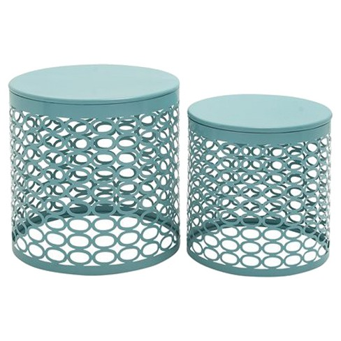 Exclusive Metal Accent Table Set of 2 - image 1 of 1