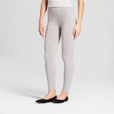 dea64e89062bab Women's Cotton Blend Seamless Waistband Leggings – A New Day™ Gray S ...