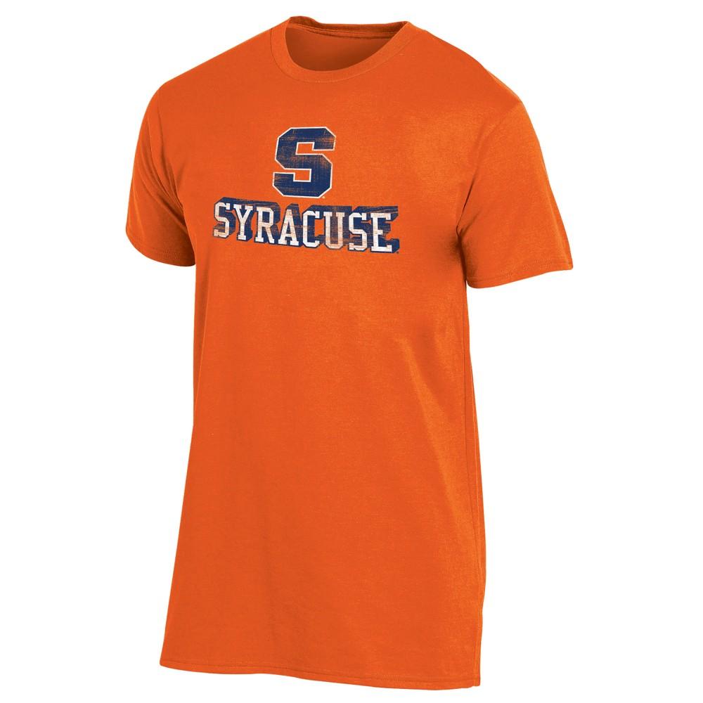 Syracuse Orange Men's Short Sleeve Keep the Lights On Bi-Blend Gray Heathered T-Shirt XL, Multicolored