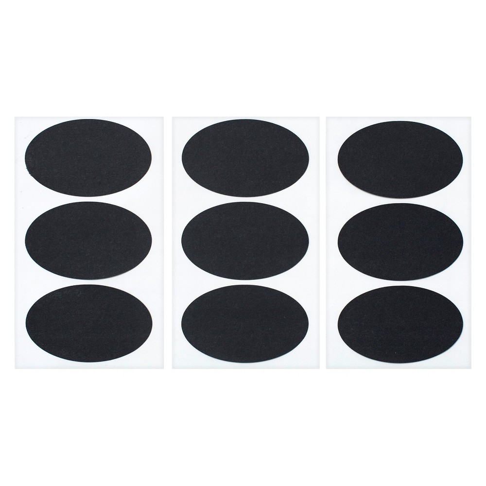 9ct Black Oval Stickers - Spritz If you need a couple of labels that are perfect for personalizing your arts and crafts, try a pack of Black Oval Stickers from Spritz. Pair these stickers with silver or gold markers to make distinctive and attractive labels for almost any project. These labels are perfect for customizing things like place settings or cups.