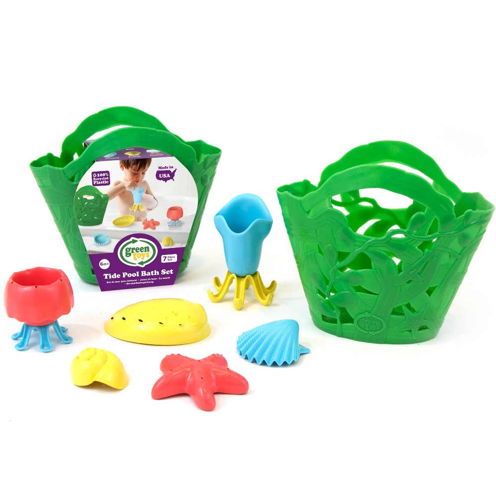 Image of Green Toys Tide Pool Bath Set - Green