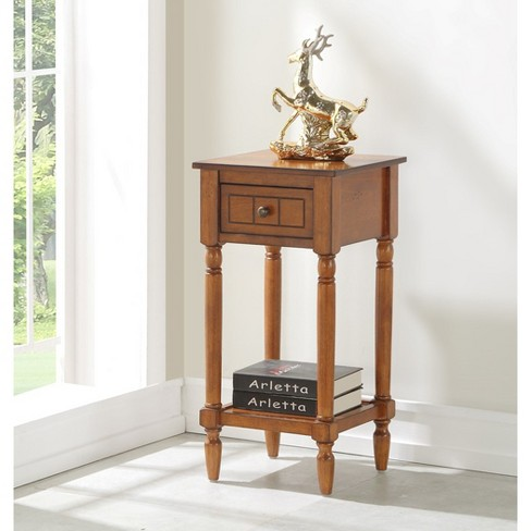 French Country Khloe Accent Table Walnut Brown Johar Furniture