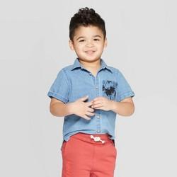 6eee442a9 Toddler Boys' Long Sleeve Chambray Button-Down Shirt - Art Class ...