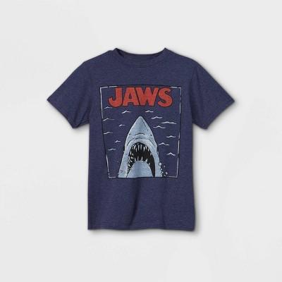 Boys' JAWS Short Sleeve Graphic T-Shirt - Navy Heather