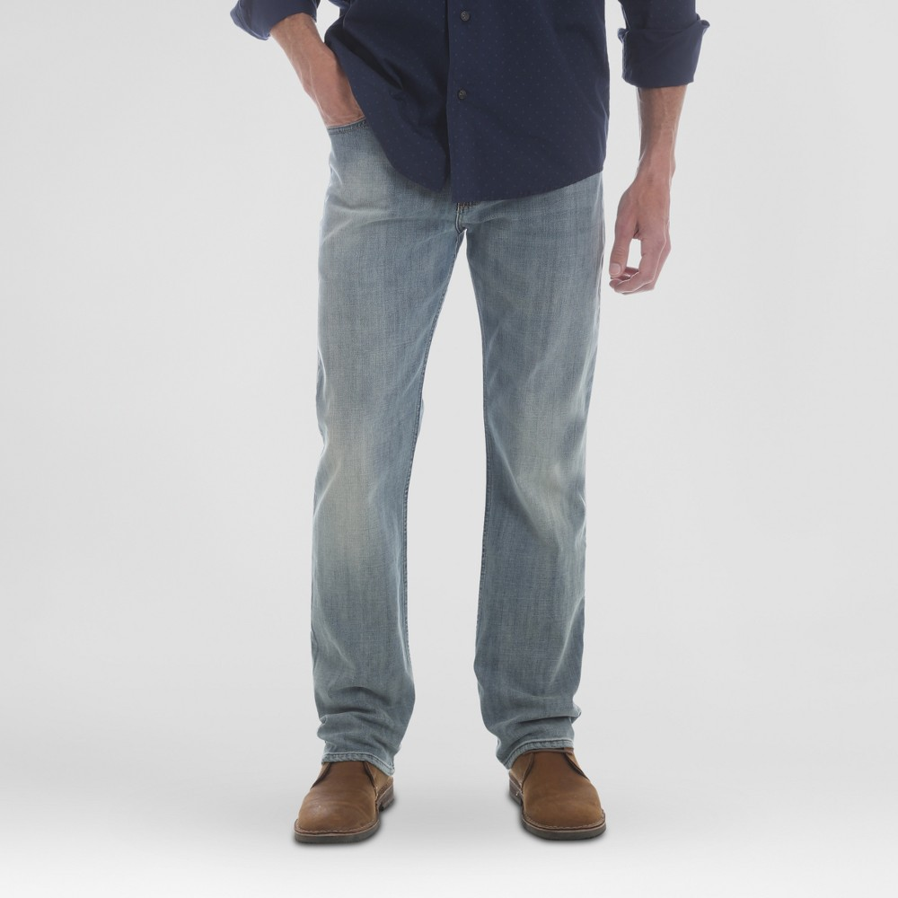 Wrangler Men's Straight Fit Jeans with Flex - Bleach 40x30