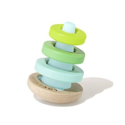 Lovevery Montessori Wobble Stacker - 4pc