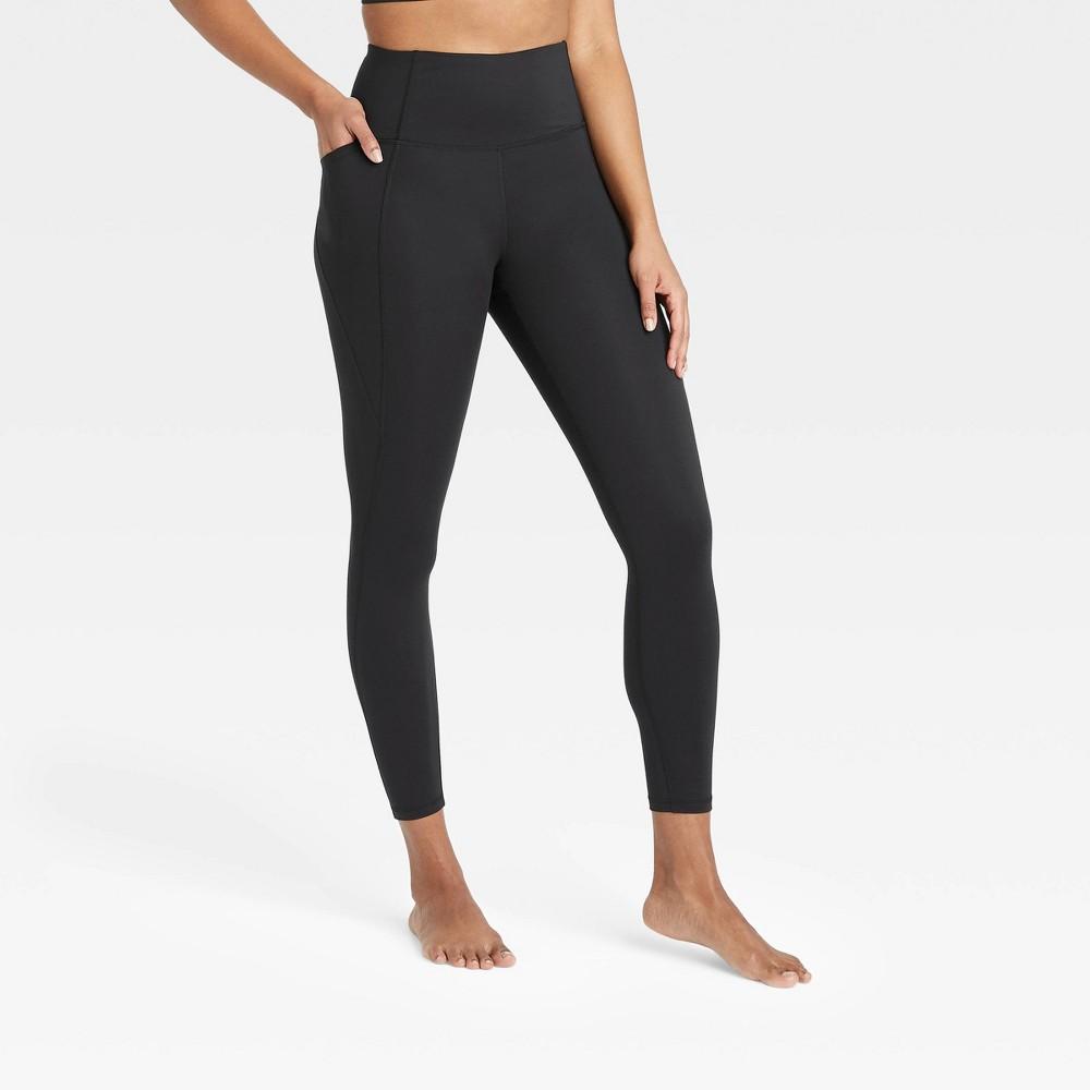 Women 39 S Contour Power Waist High Waisted Leggings 26 34 All In Motion 8482 Black S