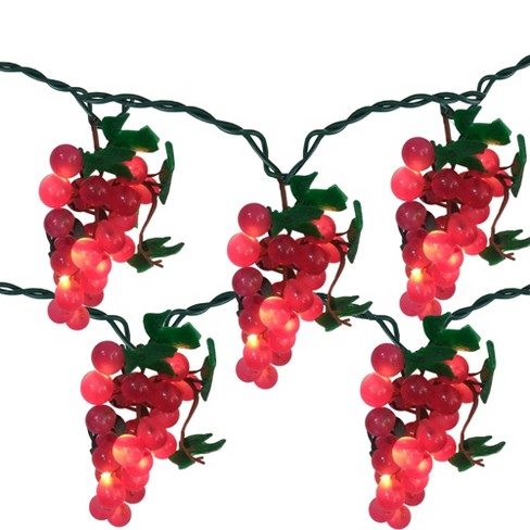 Northlight 5 Purple Grape Cluster String Lights - 6ft. Green Wire - image 1 of 2