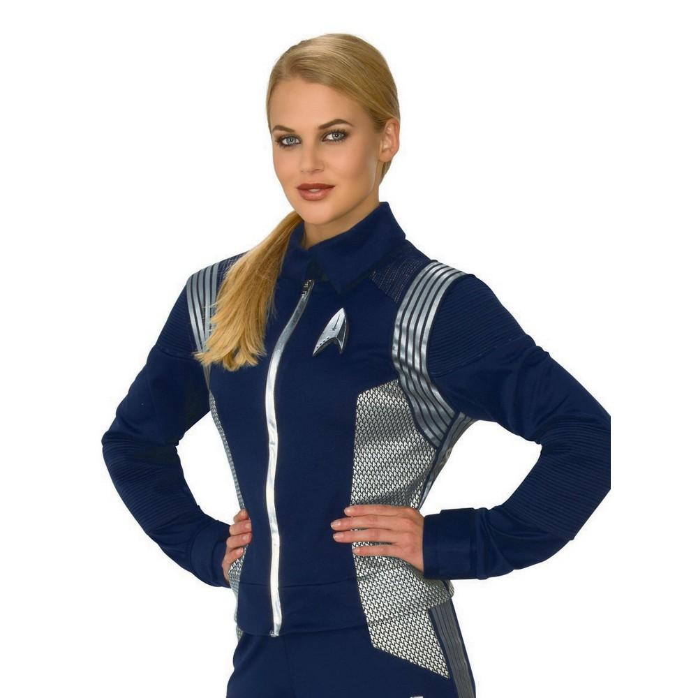 Women's Star Trek Discovery Silver Science Uniform Halloween Costume L