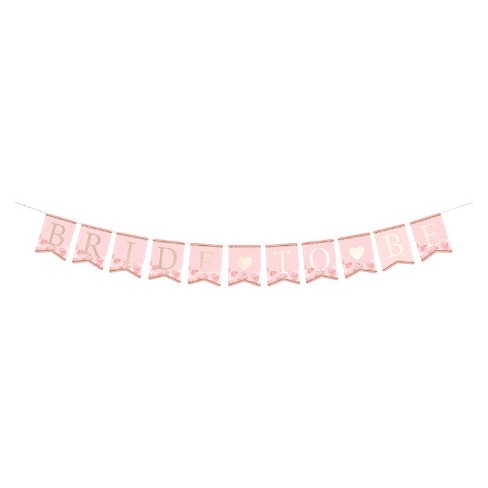 Lillian Rose Pink & Gold Bride-To-Be Bunting - image 1 of 1