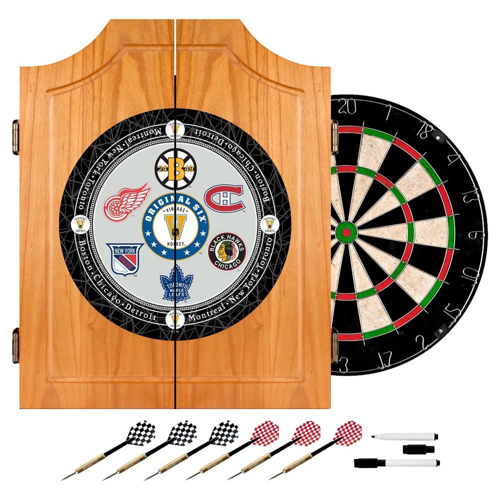 National Hockey League Wood Dart Cabinet Set