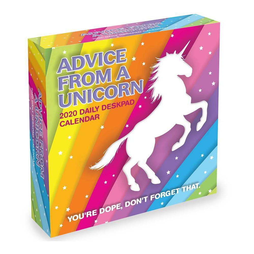 Image of 2020 Daily Desktop Calendar Advice from a Unicorn