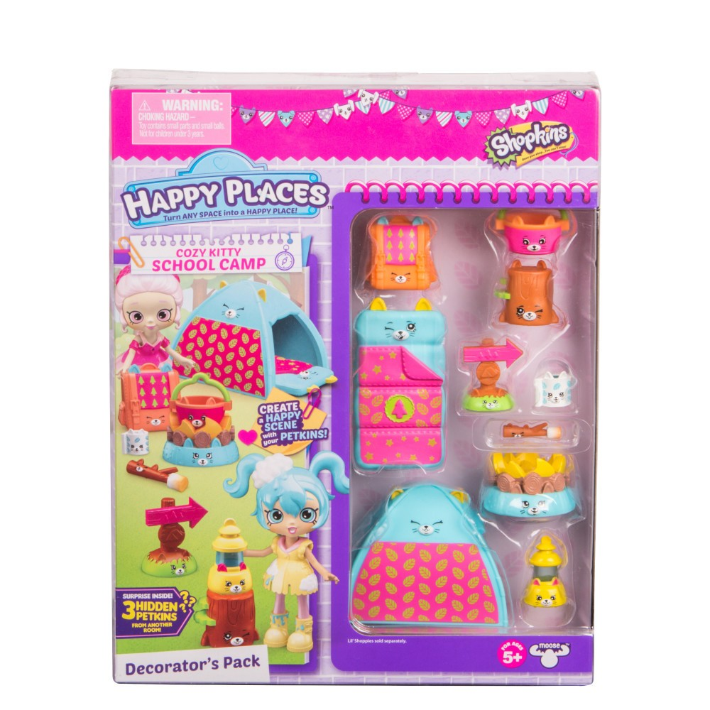 Happy Places Shopkins Decorator Pack - Cozy Kitty School Camp
