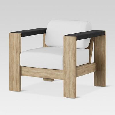 Superbe Montpelier Wood Patio Club Chair With Sunbrella Fabric   White   Smith U0026  Hawken™