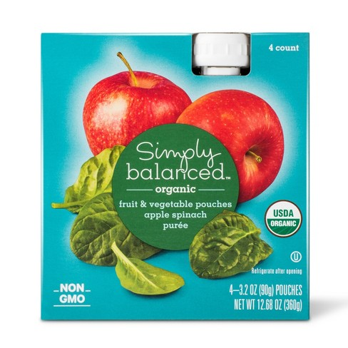 Apple Spinach Fruit & Vegetable 3.2oz Pouch - Simply Balanced™ - image 1 of 1