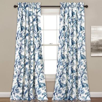 Set of 2 Dolores Room Darkening Window Curtain Panels - Lush Décor