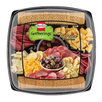 Hormel Supreme Party Tray Meat and Cheese Platters - 2.5lb